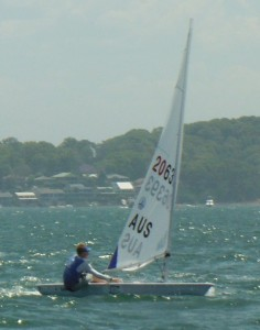 Radial winner and series leader Finn Alexander on a better wind day