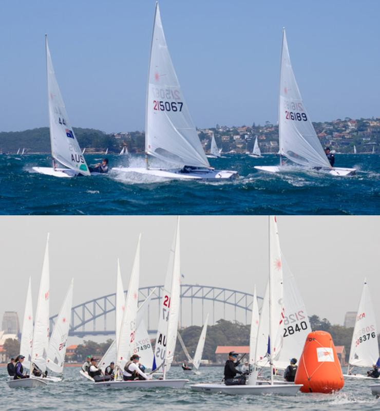 A regatta of two breezes Saturday top - Sunday bottom